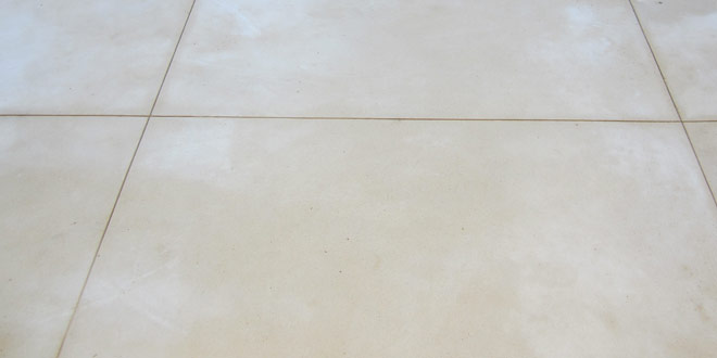 Liquid limestone with saw cut style grooves
